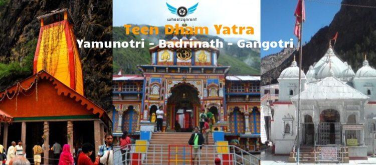 Teen Dham Yatra Package - Yamunotri Gangotri Badrinath