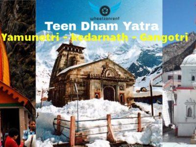 Teen Dham Yatra Package - Yamunotri Gangotri Kedarnath