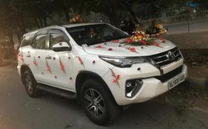 fortuner for wedding delhi